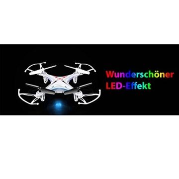 4-Kanal 2.4GHz RC ferngesteuerter mini Explorers Quadcopter PRO, Headless-Technik, Rotorenschutz, 6-axis Gyro, 3D Loopings, Komplett-Set inkl. Ersatzteil-Set - 5