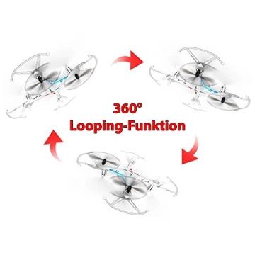 4-Kanal 2.4GHz RC ferngesteuerter mini Explorers Quadcopter PRO, Headless-Technik, Rotorenschutz, 6-axis Gyro, 3D Loopings, Komplett-Set inkl. Ersatzteil-Set - 6