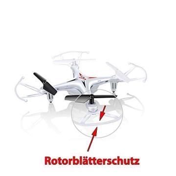 4-Kanal 2.4GHz RC ferngesteuerter mini Explorers Quadcopter PRO, Headless-Technik, Rotorenschutz, 6-axis Gyro, 3D Loopings, Komplett-Set inkl. Ersatzteil-Set - 7
