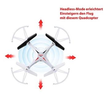 4-Kanal 2.4GHz RC ferngesteuerter mini Explorers Quadcopter PRO, Headless-Technik, Rotorenschutz, 6-axis Gyro, 3D Loopings, Komplett-Set inkl. Ersatzteil-Set - 8