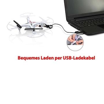 4-Kanal 2.4GHz RC ferngesteuerter mini Explorers Quadcopter PRO, Headless-Technik, Rotorenschutz, 6-axis Gyro, 3D Loopings, Komplett-Set inkl. Ersatzteil-Set - 9