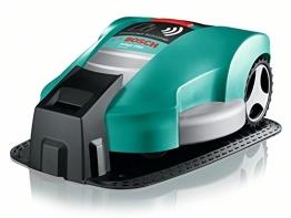 Bosch Mähroboter HomeSeries Indego 1000 Connect, 200m Begrenzungsdraht, 400 Befestigungshaken, Ladestation, 4 Befestigungsnägel, 2 Kabelverbindungen, Netzteil, Karton, 2 Lineale am Karton - 1