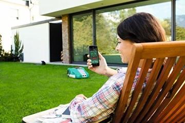 Bosch Mähroboter HomeSeries Indego 1000 Connect, 200m Begrenzungsdraht, 400 Befestigungshaken, Ladestation, 4 Befestigungsnägel, 2 Kabelverbindungen, Netzteil, Karton, 2 Lineale am Karton - 5