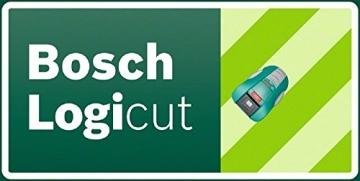 Bosch Mähroboter HomeSeries Indego 1000 Connect, 200m Begrenzungsdraht, 400 Befestigungshaken, Ladestation, 4 Befestigungsnägel, 2 Kabelverbindungen, Netzteil, Karton, 2 Lineale am Karton - 6