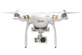 DJI Phantom 3 Professional UAV Aerial Quadrocopter Drohne mit Integrierter 4K Kamera und Gimbal zur Bildstabilisierung - Weiß/Gold - 1