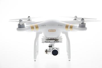 DJI Phantom 3 Professional UAV Aerial Quadrocopter Drohne mit Integrierter 4K Kamera und Gimbal zur Bildstabilisierung - Weiß/Gold - 2