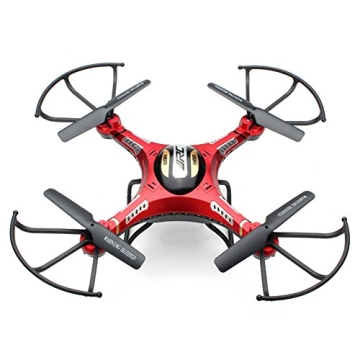 G-Lighting® JJRC H8D 4-Kanal 2,4 GHz RC Quadrocopter Gyro mit integriertem 6 Axis Gyro System ascend/descend/forward/backward/side flying/360°rolling action/hover/3D/LED/2.0MP-HD-Kamera/5.8G transmission/CF mode/One key return-möglich Nachtfliegen (Ein Pack+2pcs 500mAh Batterie+4pcs Blades) - 5
