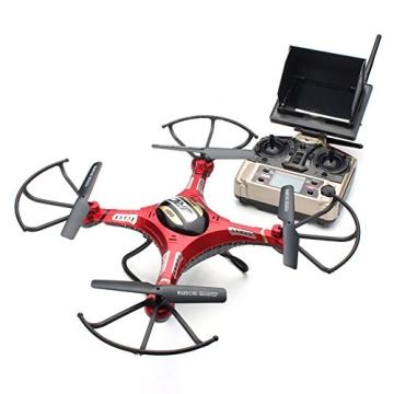 G-Lighting® JJRC H8D 4-Kanal 2,4 GHz RC Quadrocopter Gyro mit integriertem 6 Axis Gyro System ascend/descend/forward/backward/side flying/360°rolling action/hover/3D/LED/2.0MP-HD-Kamera/5.8G transmission/CF mode/One key return-möglich Nachtfliegen (Ein Pack+2pcs 500mAh Batterie+4pcs Blades) - 6