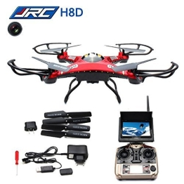 HB HOMEBOAT® JJRC H8D 6-Achsen Gyro 2,4 GHz RTF RC Quadcopter Drohne mit Kamera + FPV-Monitor Video Live-Übertragung Headless Modus - 1