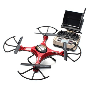 HB HOMEBOAT® JJRC H8D 6-Achsen Gyro 2,4 GHz RTF RC Quadcopter Drohne mit Kamera + FPV-Monitor Video Live-Übertragung Headless Modus - 2