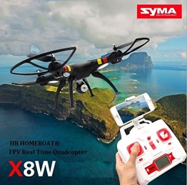 HB HOMEBOAT® SYMA X8W Venture FPV Real-Time WiFi Quadrocopter Ufo mit Video Live-Übertragung Schwarz 2015 Neueste Modell - 1