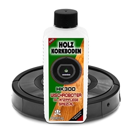 HK300 Holzboden + Korkboden Glanz Reiniger für Wischroboter, Nasswisch-Roboter, Reinigungsroboter und Bodenwischroboter - Reinigungsmittel und Pflegemittel - 1