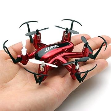 JJRC H20 nano Hexacopter mini kleine RC Quadrocopter Drone 2.4G 4CH 6 Achsen Headless Modus Aircraft LED Lichter mit Zubehör Kits Flugzeug Spielzeug (Rot) - 2