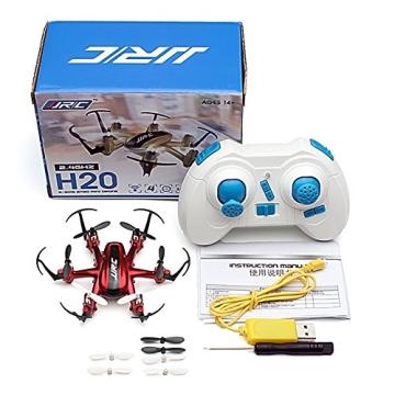 JJRC H20 nano Hexacopter mini kleine RC Quadrocopter Drone 2.4G 4CH 6 Achsen Headless Modus Aircraft LED Lichter mit Zubehör Kits Flugzeug Spielzeug (Rot) - 5