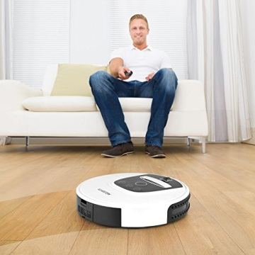 klarstein cleanhero staubsauger roboter saugroboter robotersauger f r kurze teppich fliesen. Black Bedroom Furniture Sets. Home Design Ideas