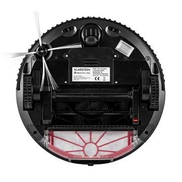 Klarstein Cleanhero Staubsauger Roboter Saugroboter Robotersauger für kurze Teppich- Fliesen- Holz Hartböden bspw. zur Entfernung von Tierhaare (Automatik-Modus, fernbedienbar mit Fernbedienung, Timer, beutellos) weiß - 7