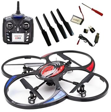 MikanixX Spirit X009 RC Quadrocopter inkl. Kamera - 2,4Ghz mit 6 Achsen Technik 3D, RTF - 2