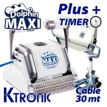 Pool Roboter dolphin maytronics Maxi Plus mit 30 Meter Kabel und Timer - 1