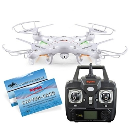SYMA X5C Quadrocopter Drohne Weiß 2,4Ghz mit HD Kamera 3D Fernbedienung + Ersatzakku - 1