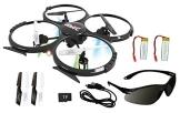 UDI U818A - RC UFO mit Zusatz-Akku und Camera - 3D Quadrocopter - Drohne, 2.4 GHz - 1