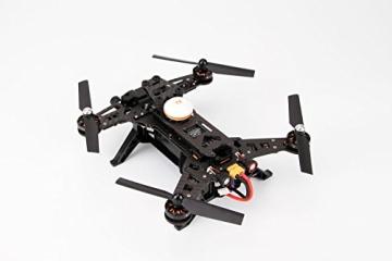 XciteRC 15003600 - FPV Racing-Quadrocopter Runner 250 RTF - FPV-Drohne mit HD Kamera, Akku, Ladegerät und Devo 7 Fernsteuerung - 4