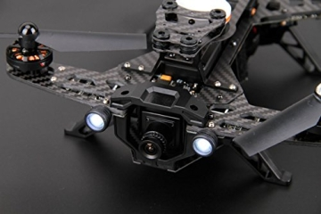 XciteRC 15003600 - FPV Racing-Quadrocopter Runner 250 RTF - FPV-Drohne mit HD Kamera, Akku, Ladegerät und Devo 7 Fernsteuerung - 7