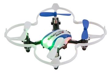 XciteRC 15008050 - Ferngesteuerter RC Quadrocopter Drohne, Rocket 65XS 3D, 4 Kanal RTF, blau/weiß - 1